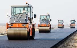 Уплотнение покрытия дорог