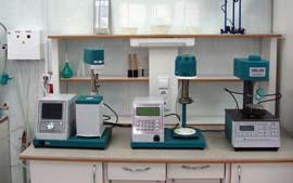 Лабораторное оборудование для исследования асфальта